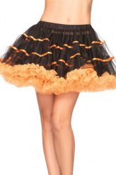 Narancs-fekete tüll szoknya