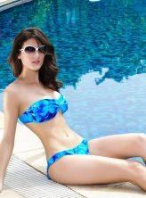 Tengerkék színű push-up bikini