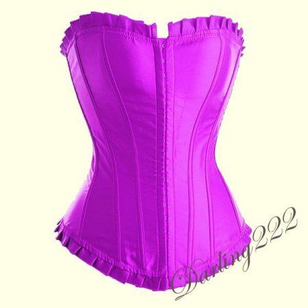 Lila szatén fűző - corset