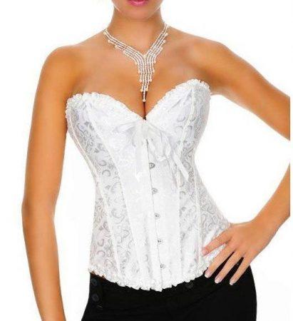 Nagyon elegáns fehér fűző - corset