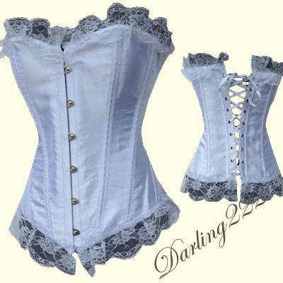 Nagyon sexy és egyben elegáns fehér fűző - corset
