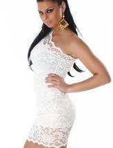 Csipkés fehér alkalmi / party ruha