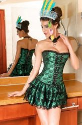 Nagyon szép, csipke fűző, szoknyával - corset