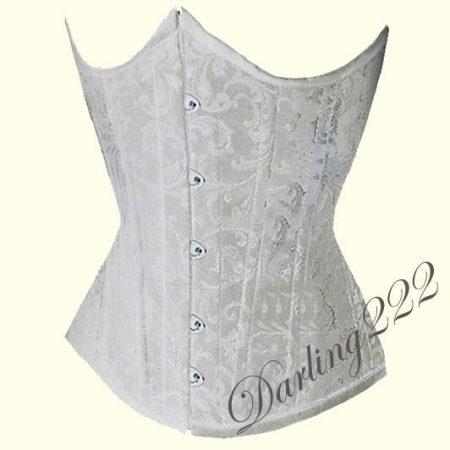 Mell alatti, fehér hímzett fűző - corset