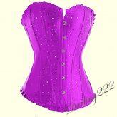 Lila szatén fűző, Strassz kövekkel - corset