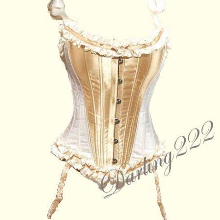 Szuper, alakformáló elegáns arany - krém színű fűző - corset