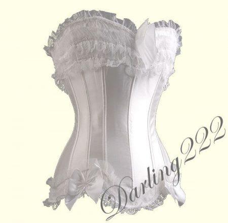 Sexy hófehér fűző - corset