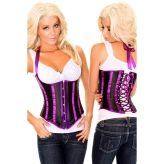 Nagyon szép, fekete-lila mell alatti fűző - corset
