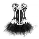 Extravagáns szatén fűző - corset tűll szoknyával