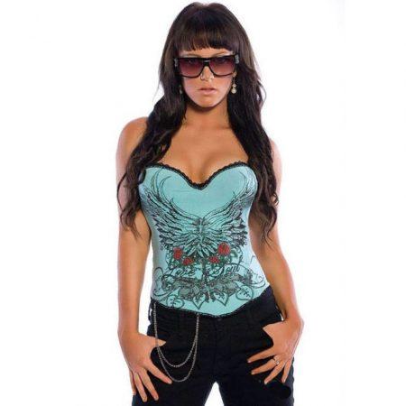 Szexy tattoo mintás mider - corset