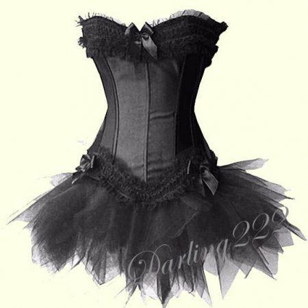 Fekete masnis fűző, fekete tűll szoknyával