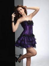 Lila - fekete masnis fűző - corset