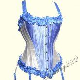 Szuper, alakformáló elegáns kék - krém színű fűző - corset