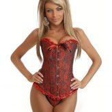 Elegáns, hímzett fűző - corset.