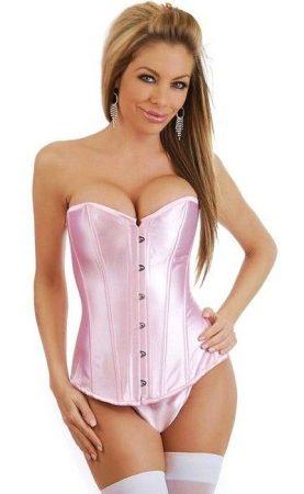 Rózsaszín szatén fűző - corset