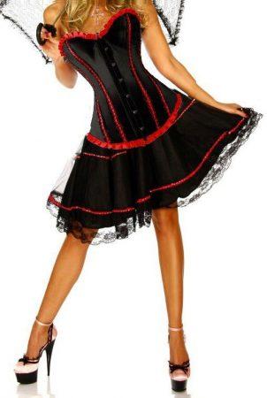 Gyönyörű  fekete-piros  fűző szoknyával