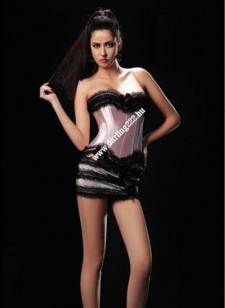 Rózsaszín mini szoknyás fűző  - corset