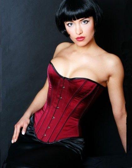 Bordó piros fűző - corset.