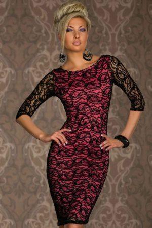 Gyönyörű, rózsaszín csipkés ruha