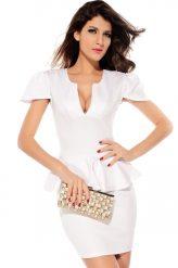 Elegáns, fehér alkalmi ruha