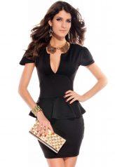 Elegáns, fekete alkalmi ruha