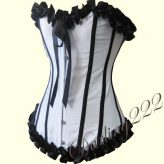 Gyönyörű, fehér szatén fűző - corset