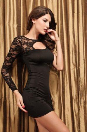 Csipkés fekete nyári ruha